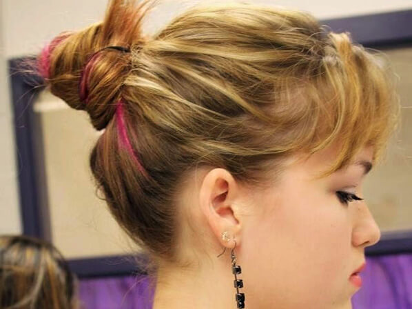 ballerina buns for short hair