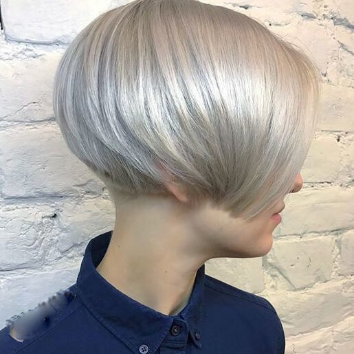 Lip-Length Brunette Bob