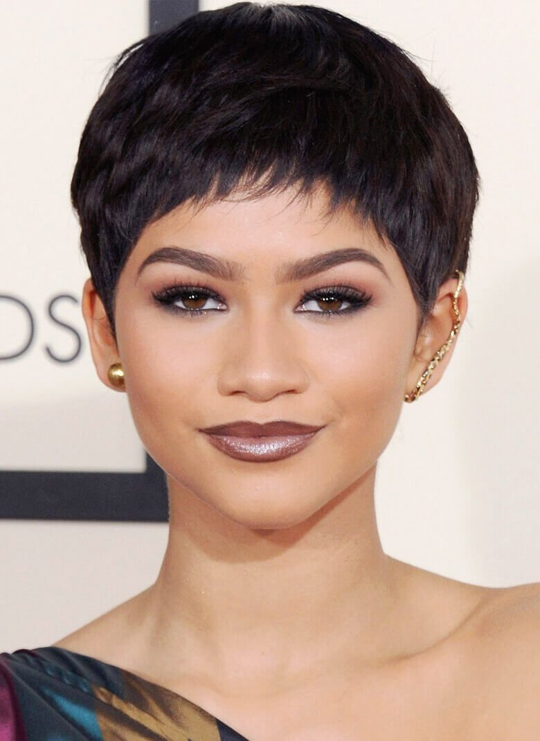 Pixie Haircut with Really Short Bangs