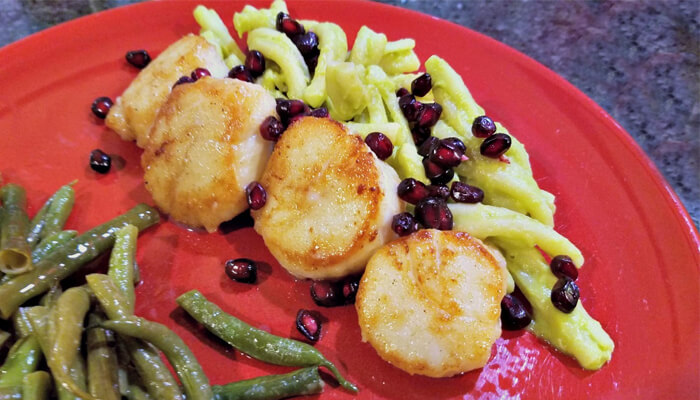 Scallops with Spiced Pomegranate