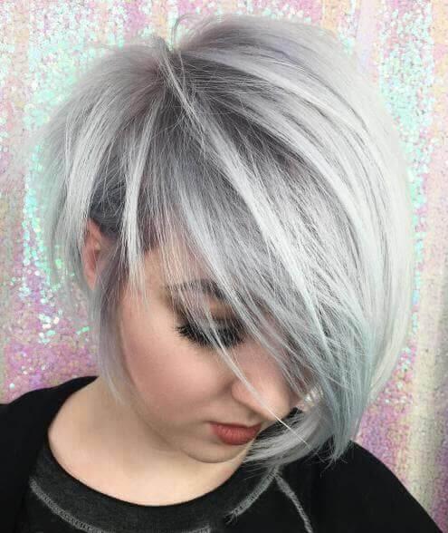 Silver Pixie Hair Cut