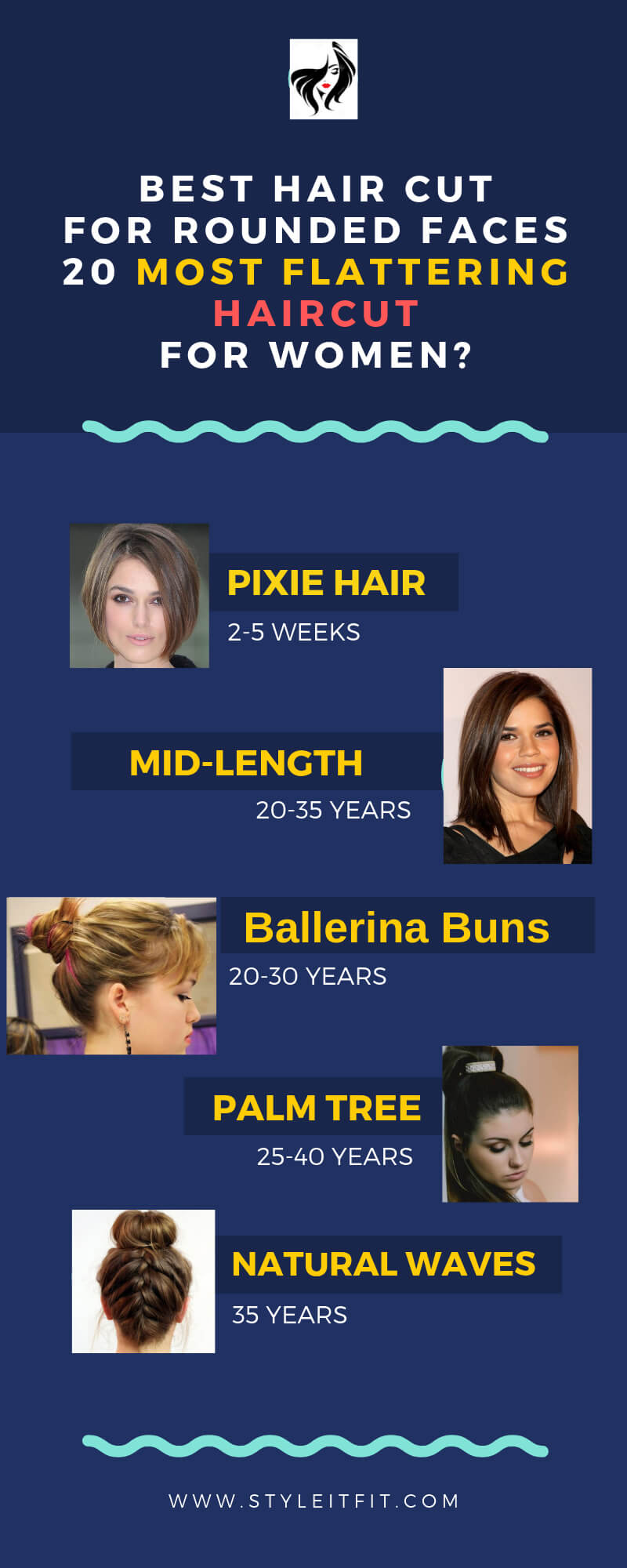 hair cut for women rounded faces