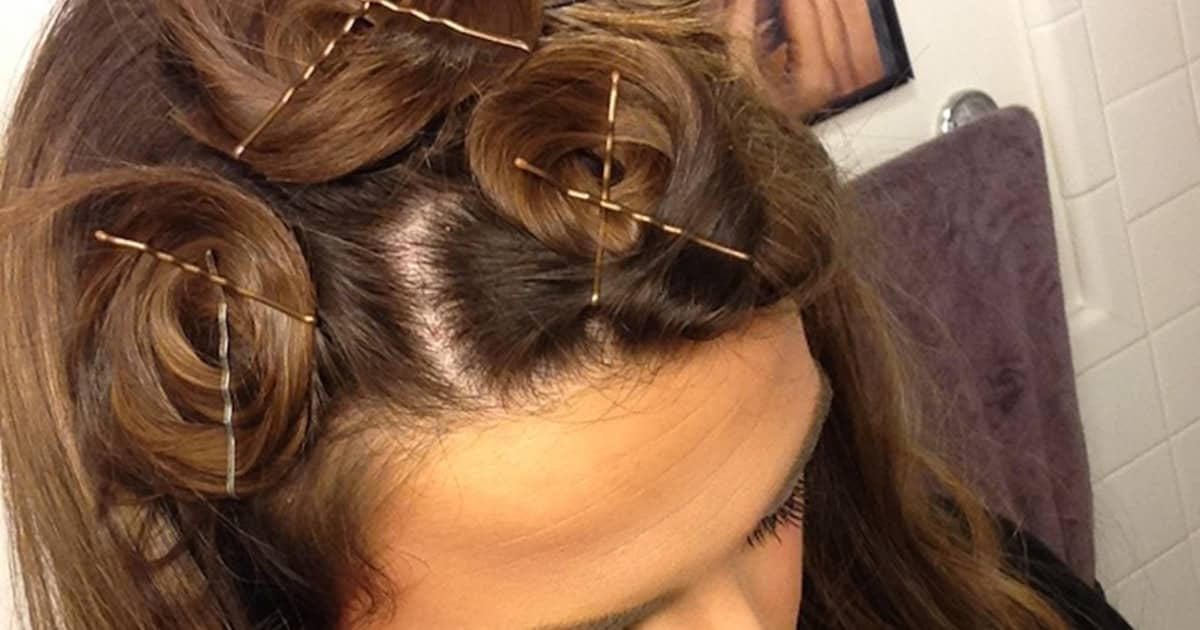 Curl Your Hair Without Heat Using Pins